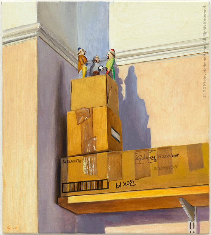 Clowns Above - David Edmond - Oil on Canvas - 41x51 cm