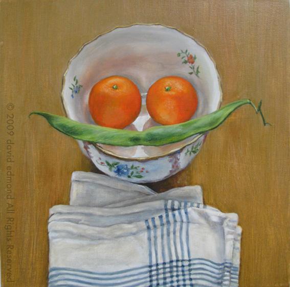 Dali's Mother - David Edmond - 30 x 30 cm - Oil on Canvas