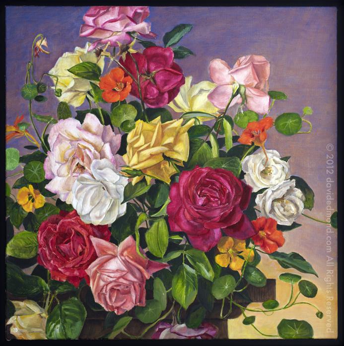 Late Elizabethan - David Edmond - 56x56 cm - Oil on Linen