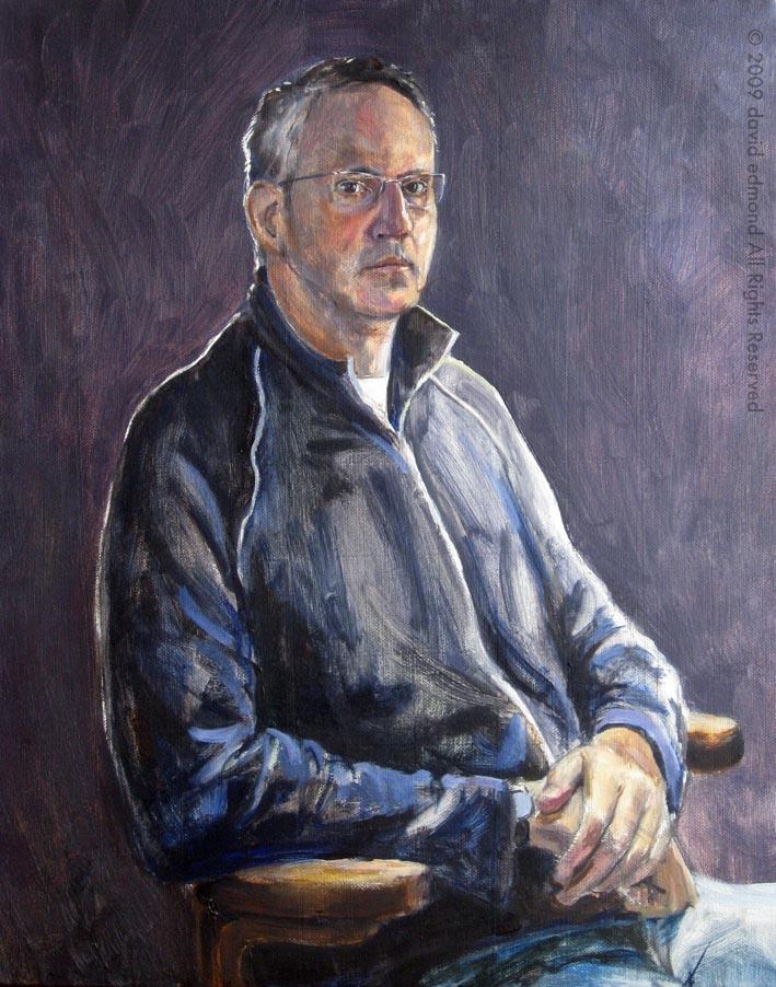 Self Portrait - David Edmond - 50 x 40 cm - Oil on Canvas