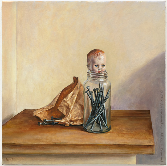 The Anxious Boy - David Edmond - 50x50 cm - Oil on Canvas