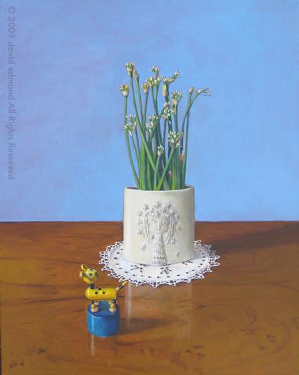 The Aphrodite Vase - David Edmond - 50 x 40 cm - Oil on Canvas