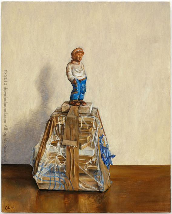 The Collector - David Edmond - 40x50 cm - Oil on Canvas