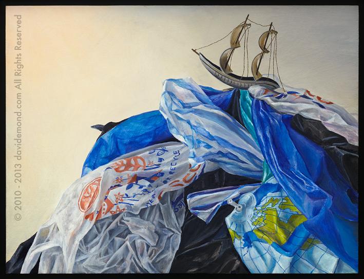 The Heedless - David Edmond - 55x42 cm - Oil on Board