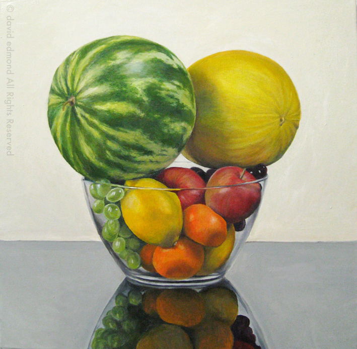 The Melons - David Edmond - 50 x 50 cm - Oil on Canvas