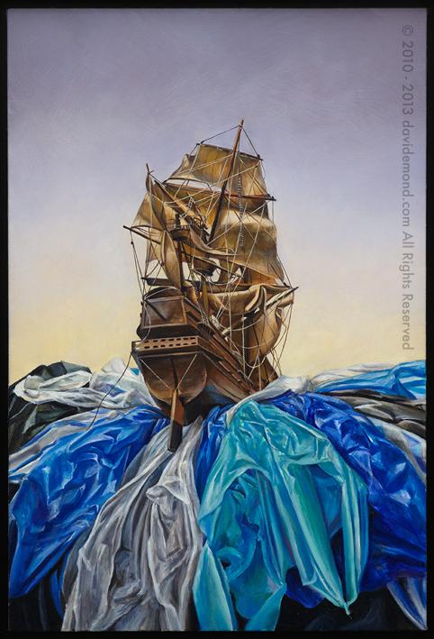 The Regardless - David Edmond - Oil on Linen - 50x77 cm