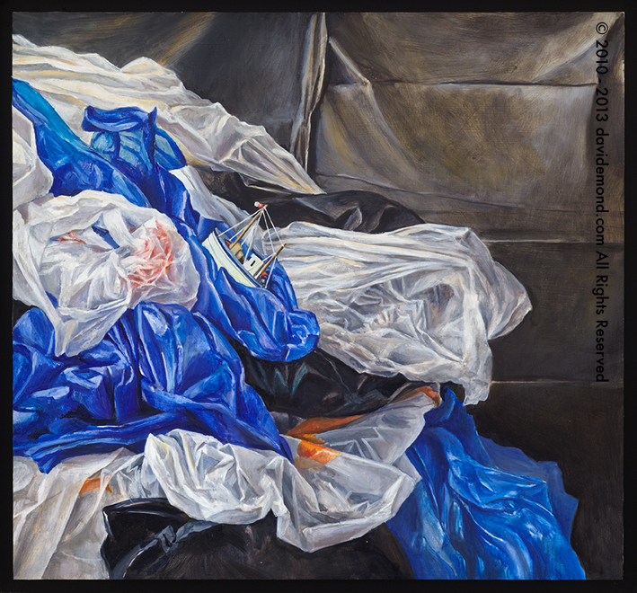 The Resolute - David Edmond - 48x45 cm - Oil on Canvas