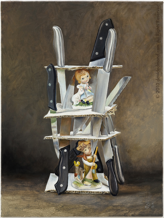 The Tower of Love - David Edmond - 45x60 cm - Oil on Canvas