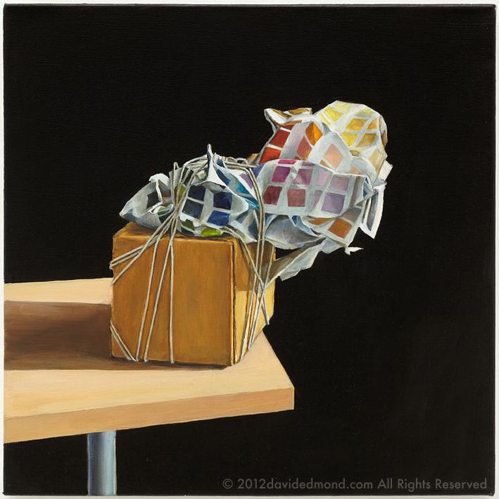 Tropism - David Edmond - Oil on Canvas - 40x40 cm