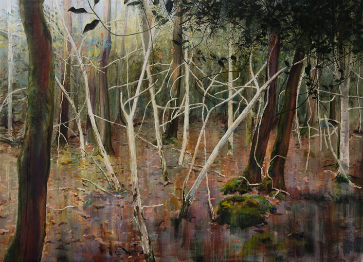 Hawkeswood January - Oil on Canvas - 220x160 cm - David Edmond