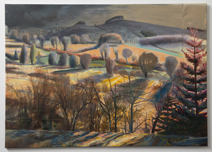 Llanbister - Oil on canvas - 190x135 cm - David Edmond