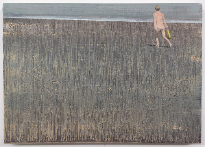 Beach 1 - Oil on Board - 420x295mm - David Edmond