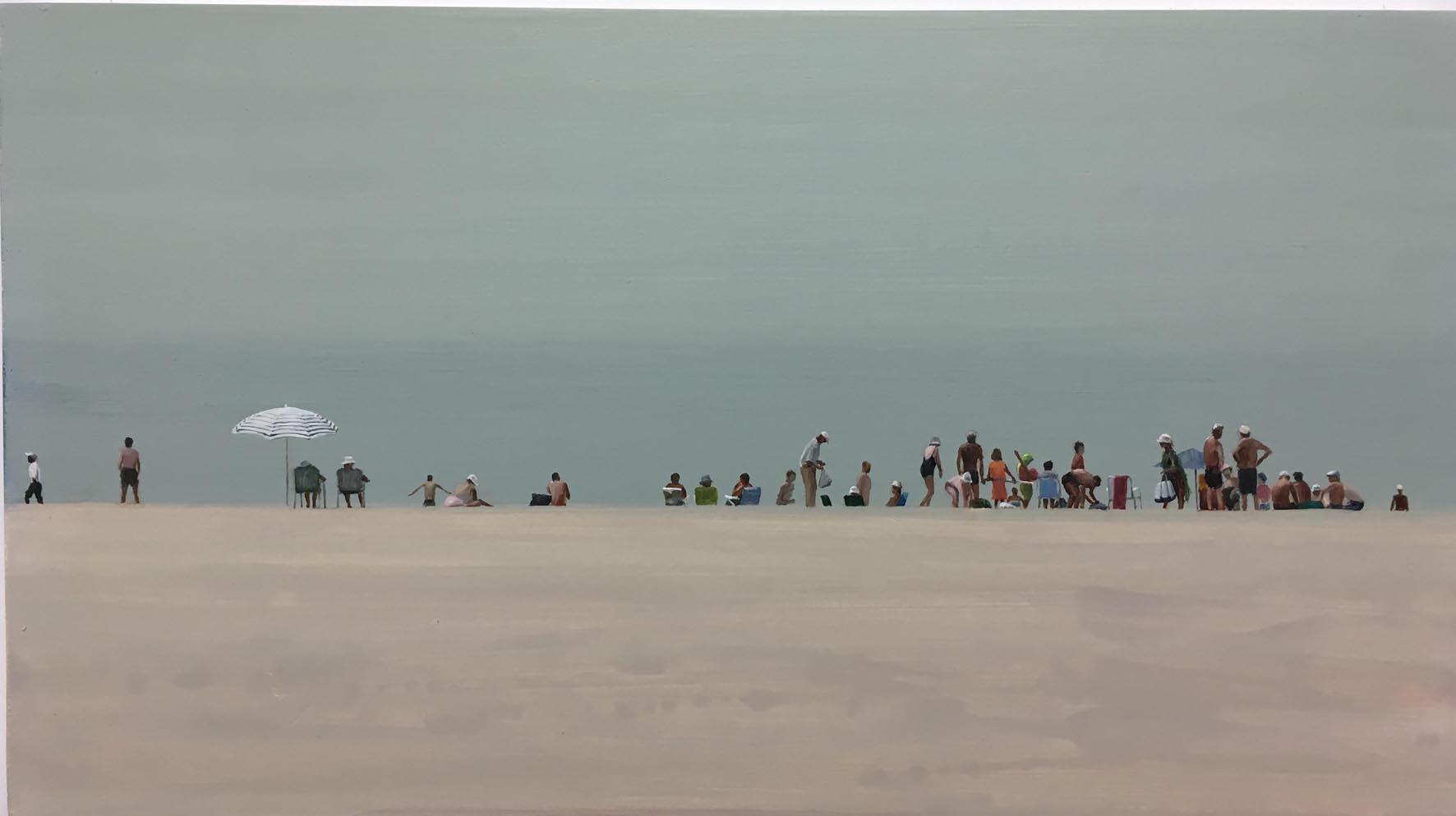 Beach 25 - Oil on Board - David Edmond