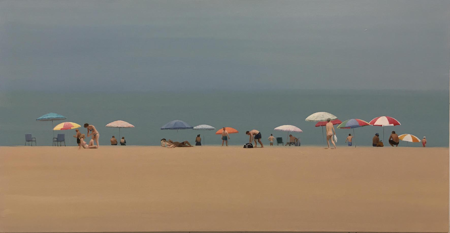Beach 35 - Oil on canvas - 61x117cm - David Edmond