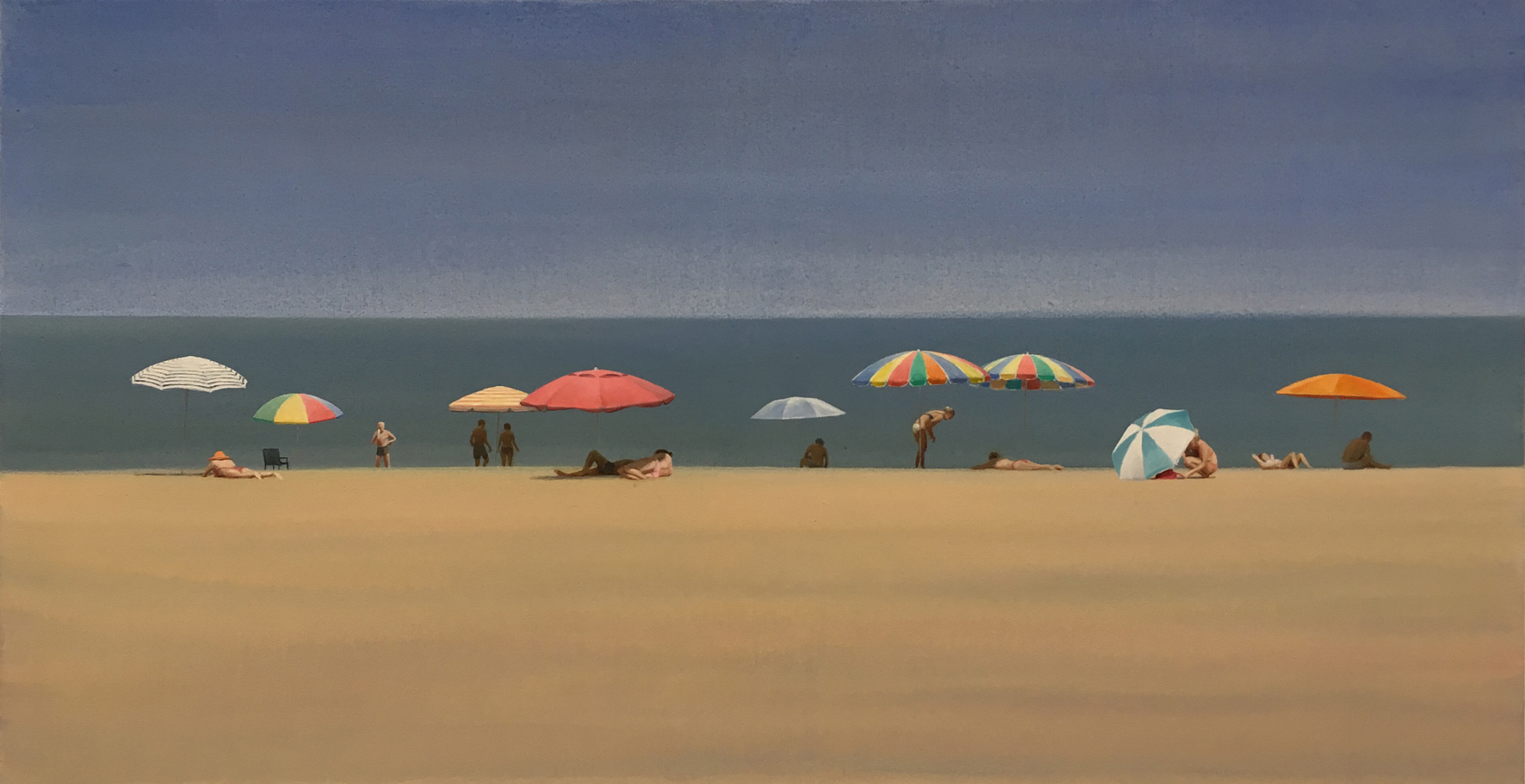 Beach 39 - Oil on Canvas - 61x117cm - David Edmond