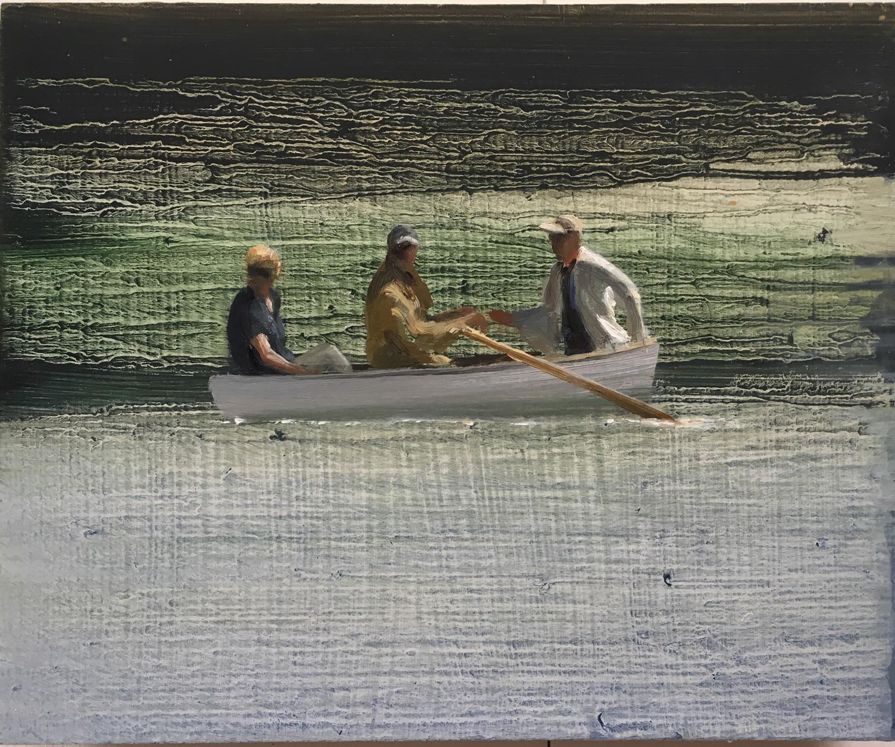 Boat 6 - Oil on Board - David Edmond