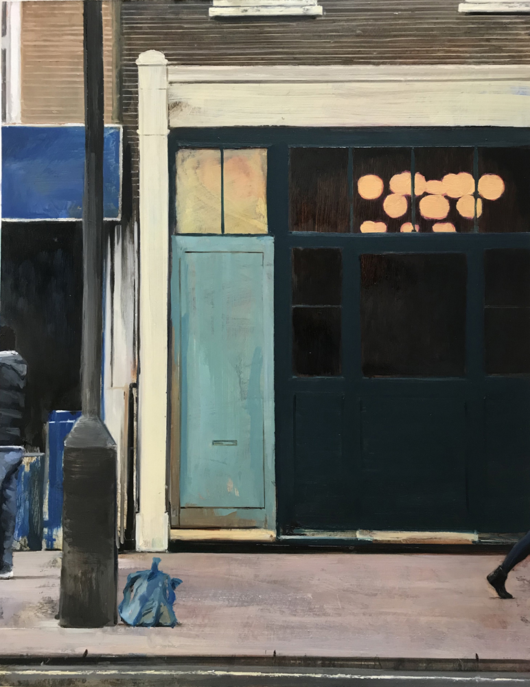 Street Painting 6 - Oil on Board - 61x48 cm - David Edmond